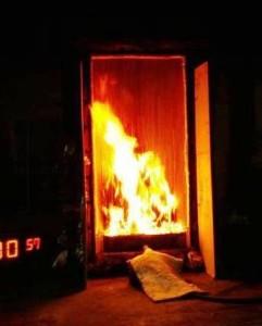 WUI fire test cropped